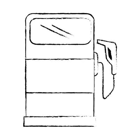 Gas pump icon over white background vector illustration Illustration
