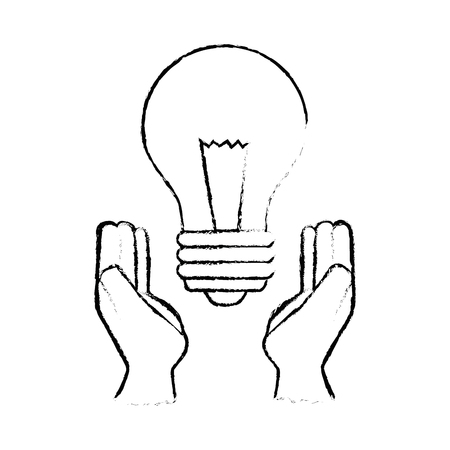 Light bulb with leaves icon.