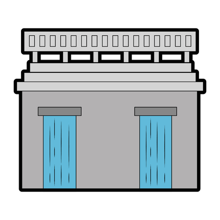 Water dam icon. Illustration