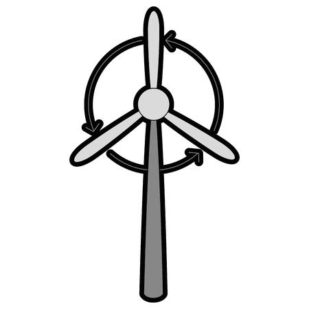 Wind turbine eolic energy graphic design.