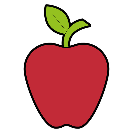 apple fruit icon over white background vector illustration Ilustração