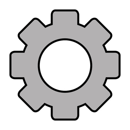 cogwheel icon over white background vector illustration
