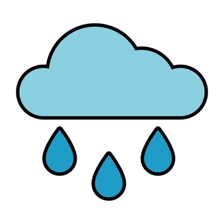 Cloud icon over white background vector illustration Ilustração