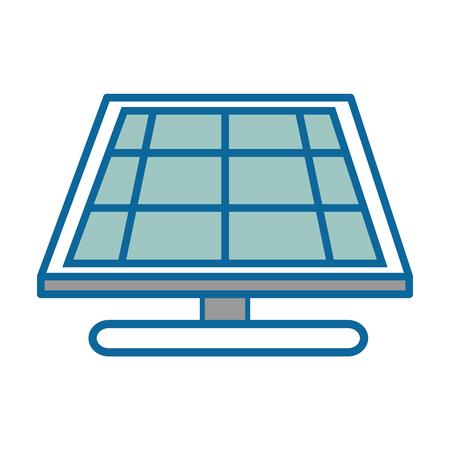 Solar panel icon over white background vector illustration