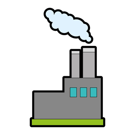 Factory icon over white background vector illustration