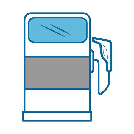 Gas Pumpe Symbol isoliert auf weißem Hintergrund Vektor-Illustration Standard-Bild - 83850311