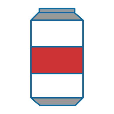 炭酸飲料が白い背景のベクトル図に分離されたアイコン  イラスト・ベクター素材