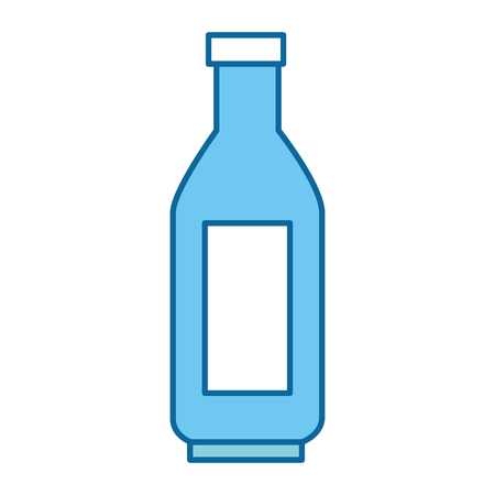 Water bottle icon isolated on white background vector illustration