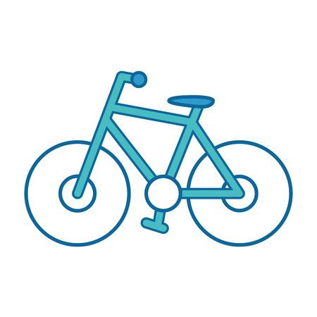白い背景のベクトル図に分離された自転車のアイコン