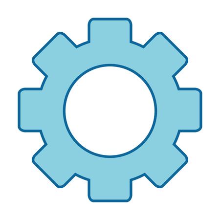 Cogwheel icon isolated on white background vector illustration