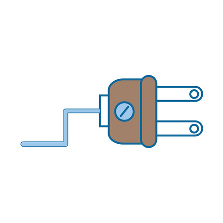 Electric plug icon over white background vector illustration.