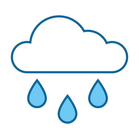 Cloud icon over white background vector illustration.