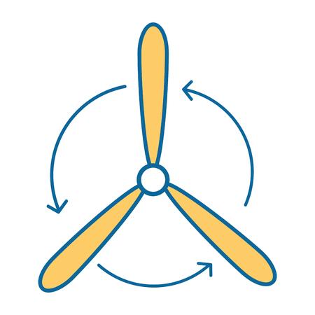 Fan icon over white background vector illustration. Illustration