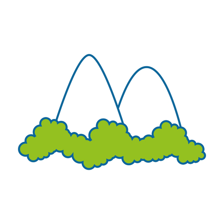 Mountains icon over white background vector illustration.