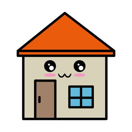 Cartoon house icon vector illustration