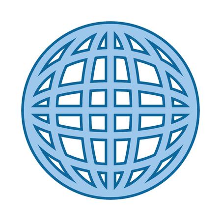 Global sphere icon vector illustration