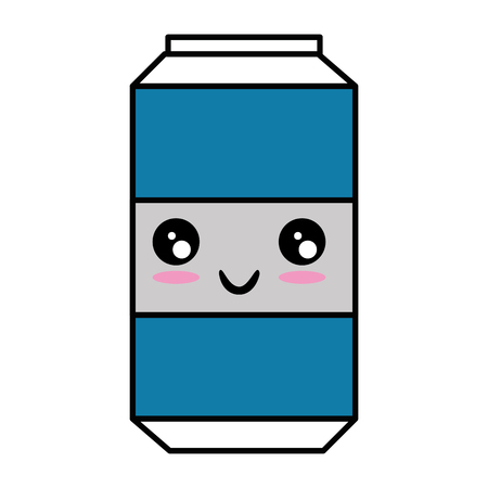 Cartoon soda drink can icon vector illustration