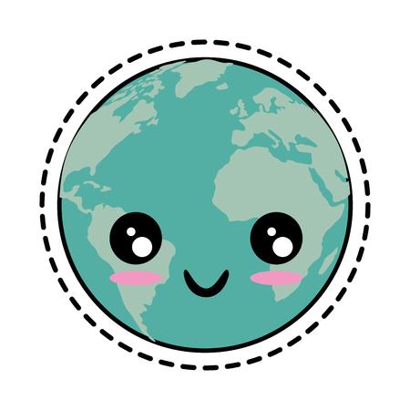 Cartoon earth planet icon vector illustration Фото со стока - 83813573