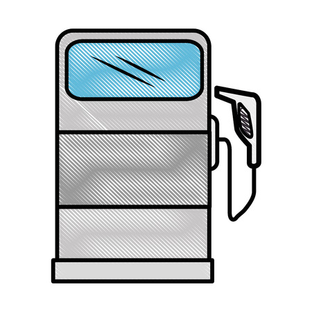 Gas pump icon over white background vector illustration Illustration