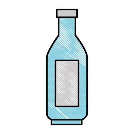 Plastic bottle isolated over white background graphic design