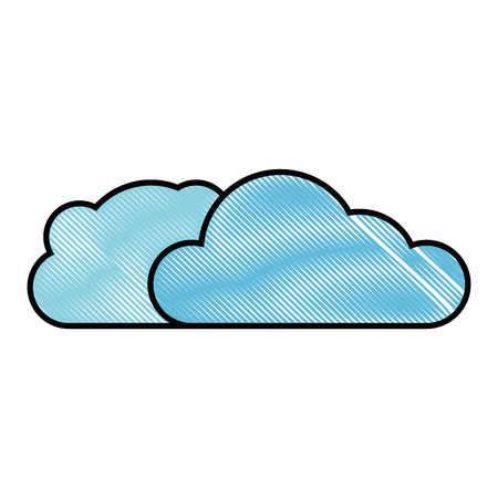 Cloud weather symbol over white background graphic design