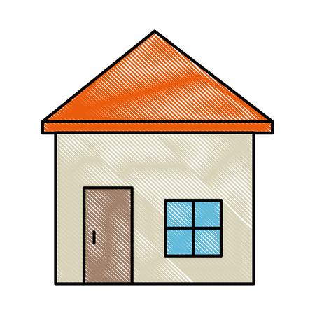 白い背景のグラフィック デザインを分離された家のシンボル  イラスト・ベクター素材