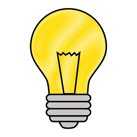 Light bulb with leaves icon over white background vector illustration Imagens - 83817951