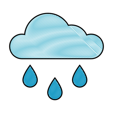 Cloud weather symbol over white background graphic design 版權商用圖片 - 83817634