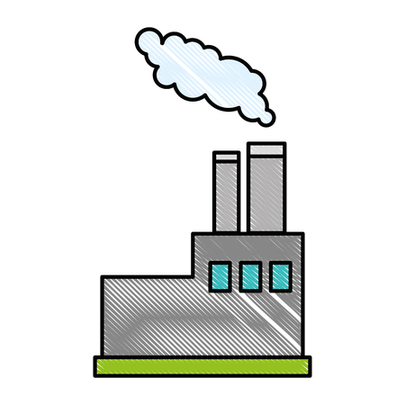 factory icon over white background vector illustration Illustration