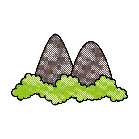 mountains icon over white background vector illustration Illusztráció