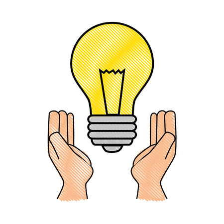 light bulb with leaves icon over white background vector illustration Illustration
