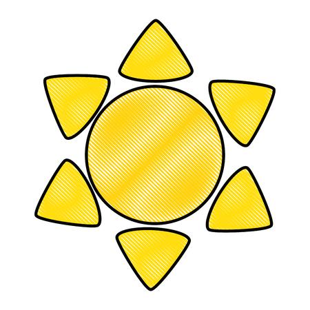 sun weather symbol over white background graphic design