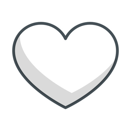 Heart and love over white background vector illustration Ilustrace