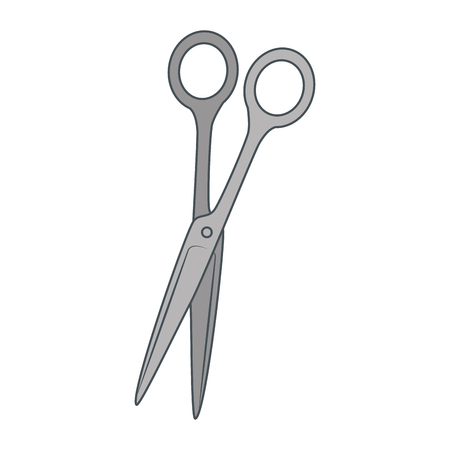 Scissors, sewing tool over white background vector illustration