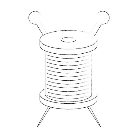 Needle and wool icon vector illustration graphic design Иллюстрация