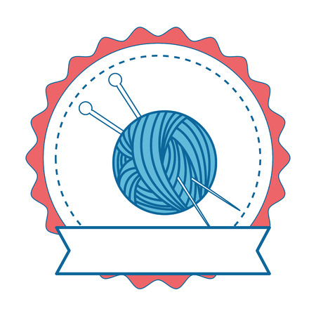 Needle and wool icon vector illustration graphic design Illusztráció