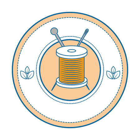 Needle and wool icon vector illustration graphic design. Иллюстрация