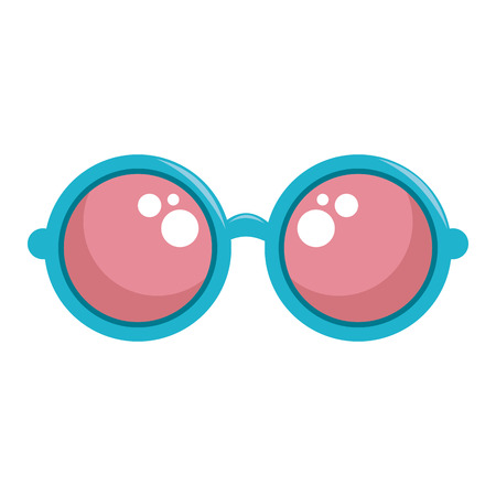 Hippie fashion glasses icon vector illustration graphic design