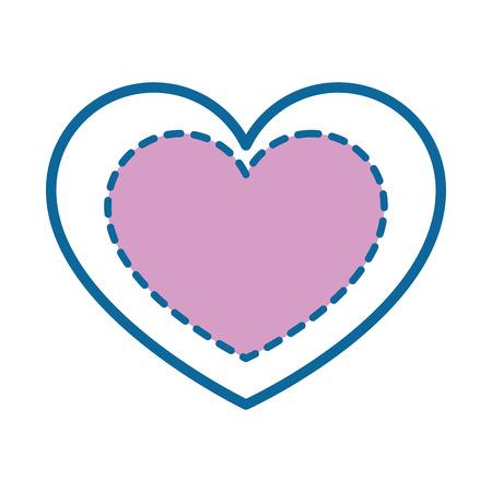 마음과 사랑 아이콘 벡터 일러스트 레이 션 그래픽 디자인.