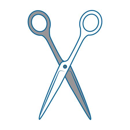 Sewing scissor tool icon vector illustration graphic design.