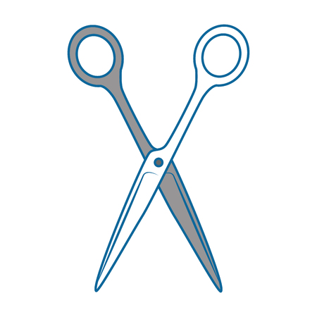 Sewing scissor tool icon vector illustration graphic design.