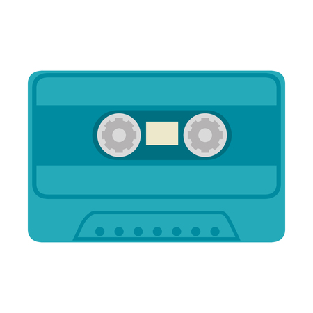 古い音楽カセットのアイコン ベクトル イラスト グラフィック デザイン。