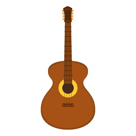 Acoustic guitar instrument icon vector illustration graphic design. Ilustração