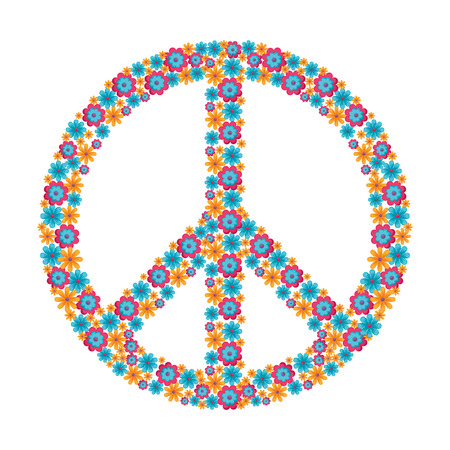 Hippie peace symbol icon vector illustration graphic design
