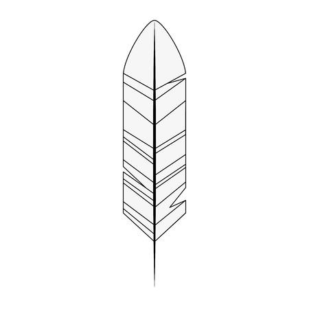 Icône de plume sur fond blanc illustration vectorielle Banque d'images - 83822103
