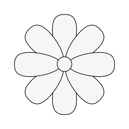 Beautiful flower icon over white background vector illustration.