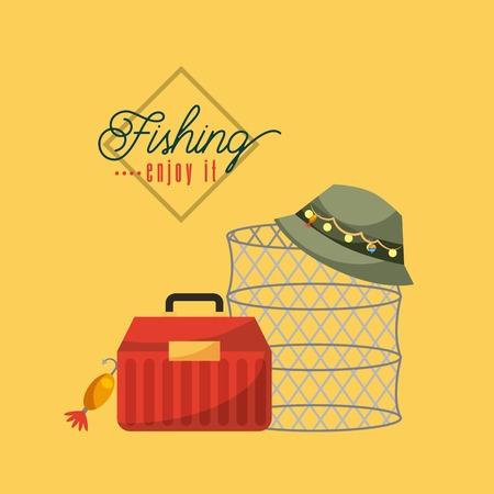 Fishing enjoy it icon vector illustration design graphic.