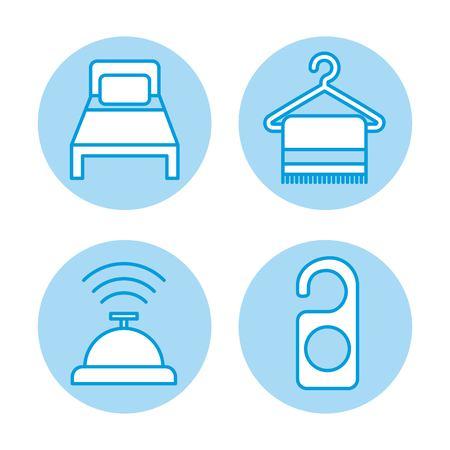 icon set travel accessories rest illustration vector design graphic Illustration
