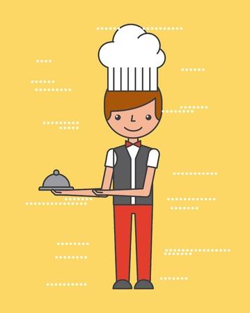 People work luxury hotel icon vector illustration design graphic