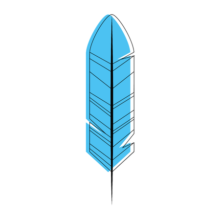 feather icon over white background vector illustration